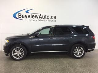 Used 2016 Dodge Durango LTD- AWD|REM STRT|ROOF|HTD LTHR|REV CAM|UCONNECT! for sale in Belleville, ON