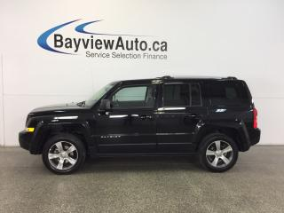 Used 2017 Jeep Patriot HIGH ALTITUDE- 4x4|SUNROOF|HTD LTHR|UCONNECT! for sale in Belleville, ON