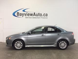 Used 2013 Mitsubishi Lancer SPORT- HTD SEATS! BLUETOOTH! A/C! CRUISE! for sale in Belleville, ON