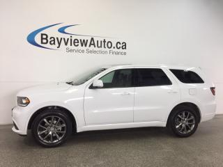 Used 2017 Dodge Durango GT- AWD|ROOF|REM STRT|HTD LTHR|DVD|NAV|UCONNECT! for sale in Belleville, ON
