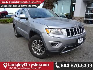 Used 2016 Jeep Grand Cherokee Limited *ACCIDENT FREE * DEALER INSPECTED * CERTIFIED * for sale in Surrey, BC