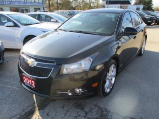 Used 2012 Chevrolet Cruze 'GREAT VALUE' 6-SPEED MANUAL 'RS - LT MODEL' 5 PASSENGER 1.4L - TURBO.. CD/AUX INPUT.. KEYLESS ENTRY.. for sale in Bradford, ON