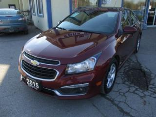 Used 2015 Chevrolet Cruze 'GREAT VALUE' 6-SPEED MANUAL 'RS - LT MODEL' 5 PASSENGER 1.4L - TURBO.. SUNROOF.. BACK-UP CAMERA.. CD/AUX/USB INPUT.. for sale in Bradford, ON