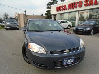 Used 2008 Chevrolet Impala Police Pkg 9C1 NO ACCIDENTS LEATHER SEATS PL,PM,PS for sale in Oakville, ON