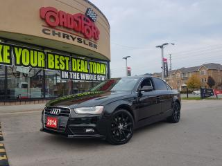 Used 2014 Audi A4 Komfort LEATHER SUNROOF BLK WHEELS CLEAN for sale in Scarborough, ON