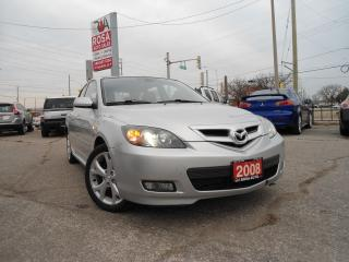 Used 2008 Mazda MAZDA3 AUTO 5DR HB GTSUNROOF  NO RUST AUX CD for sale in Oakville, ON
