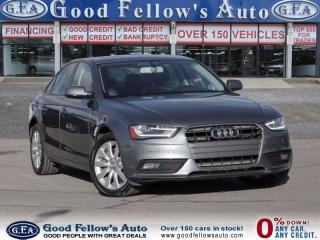 Used 2013 Audi A4 2.0 LITER, TURBO, QUATTRO, LEATHER SEATS, SUNROOF for sale in North York, ON
