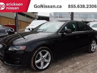 Used 2012 Audi A4 2.0T PREMIUM - QUATTRO, LEATHER, SUNROOF for sale in Edmonton, AB