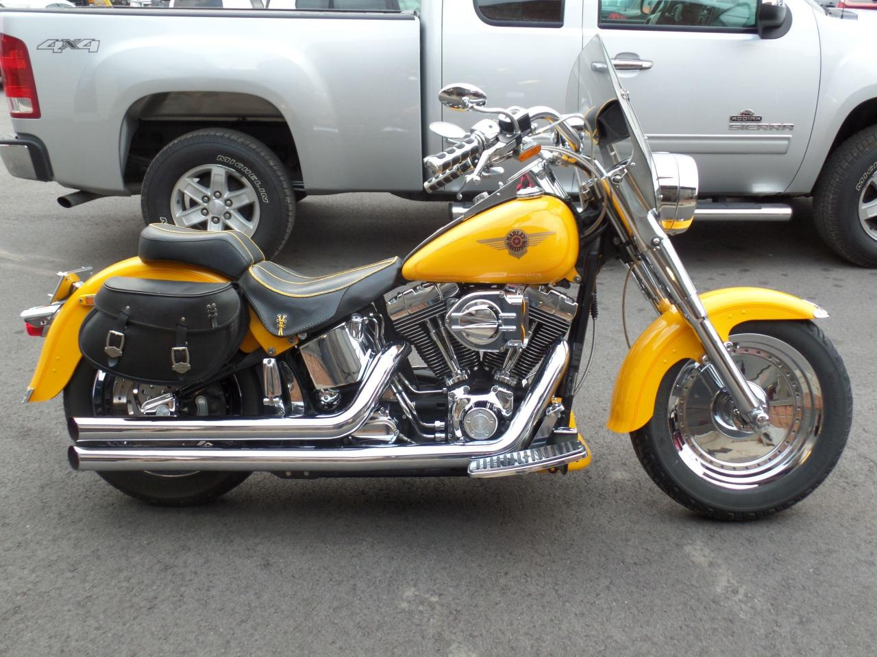 Photo of Yellow 2000 Harley-Davidson FAT BOY