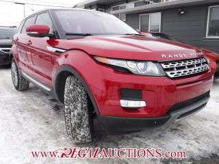 Used 2012 Land Rover RANGE ROVER EVOQUE  4D UTILITY for sale in Calgary, AB