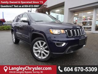 Used 2017 Jeep Grand Cherokee Limited *ACCIDENT FREE*ONE OWNER*LOCAL BC JEEP* for sale in Surrey, BC