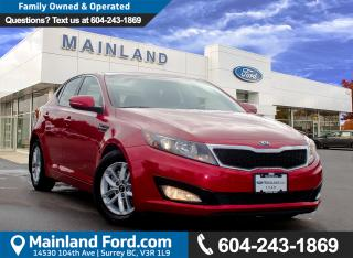 Used 2013 Kia Optima LX LOW KMS for sale in Surrey, BC