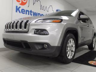 Used 2016 Jeep Cherokee North 4x4 with sunroof, heated power leather seats and steering wheel, and power liftgate for sale in Edmonton, AB