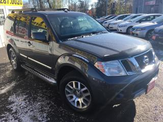 Used 2011 Nissan Pathfinder LE/AWD/7PASS/BACKUPCAMERA/DVD/LEATHER/V.CLEAN for sale in Scarborough, ON