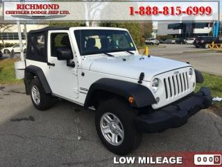 Used 2017 Jeep Wrangler SPORT for sale in Richmond, BC