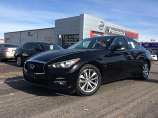Used 2014 Infiniti Q50 Premium  - $179.13 B/W - Low Mileage for sale in Woodstock, ON