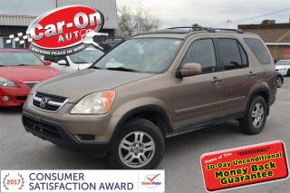 Used 2003 Honda CR-V EX-L 4X4 AUTO LEATHER SUNROOF HEATED SEATS LOADED for sale in Ottawa, ON