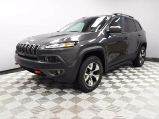 Used 2016 Jeep Cherokee Trailhawk - Local One Owner Trade In | No Accidents | Heated Leather Seats | Heated Steering Wheel | Bluetooth | Navigation | Back Up Camera | Panoramic Sunroof | Power Liftgate | 17 Inch Wheels | Excellent Condition | Aggressive Tires for sale in Edmonton, AB