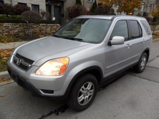 Used 2003 Honda CR-V EXL, AWD,CERTIFIED, NO ACCIDENTS, LEATHER, SUNROOF for sale in Etobicoke, ON