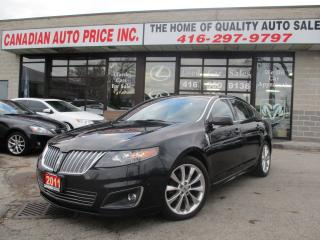 Used 2011 Lincoln MKS AWD-S-NAV-CAMERA-LEATHER-PANO-ROOF-SENSOR-BLUETOOT for sale in Scarborough, ON