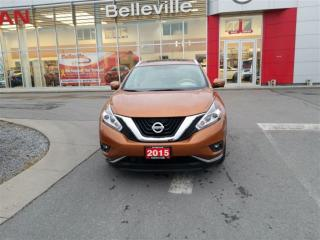 Used 2015 Nissan Murano PLATINUM 1 OWNER LOCAL TRADE for sale in Belleville, ON
