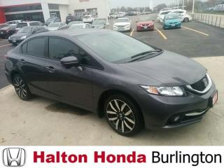 Used 2015 Honda Civic Sedan TOURING|ACCIDENT FREE|ONE OWNER for sale in Burlington, ON