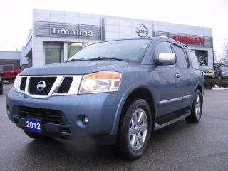 Used 2012 Nissan Armada Platinum Edition 8-passenger for sale in Timmins, ON