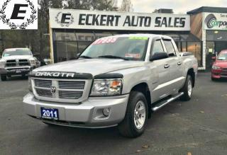 Used 2011 Dodge Dakota SXT CREW CAB 4X4 WITH RUNNING BOARDS for sale in Barrie, ON