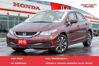 Used 2015 Honda Civic EX | Automatic for sale in Whitby, ON