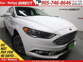 Used 2017 Ford Fusion SE  NAVI  LEATHER  BACK UP CAMERA  LOW KM'S  AWD  for sale in Burlington, ON