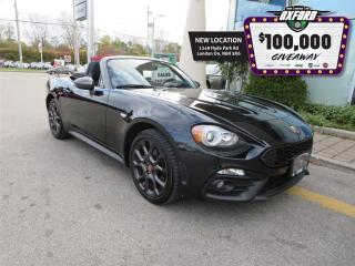 Used 2017 Fiat 124 Spider Abarth - Leather, Back up Cam, Bluetooth, Parksens for sale in London, ON