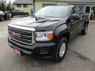 Used 2016 GMC Canyon GREAT KM'S SLE EDITION 5 PASSENGER 3.6L - V6.. TWO-WHEEL DRIVE.. CREW.. SHORTY.. AUX/USB INPUT.. TOW SUPPORT.. BACK-UP CAMERA.. for sale in Bradford, ON