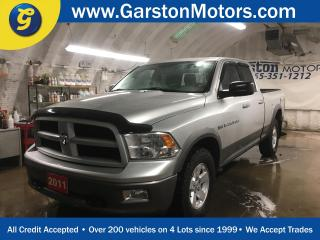Used 2011 Dodge Ram 1500 OUTDOORSMAN*QUADCAB*4WD*HEMI*PHONE CONNECT*REMOTE START*HEATED MIRRORS*POWER DRIVER SEAT*POWER REAR BOX WINDOW*BEDLINER*FRONT HOOKS* for sale in Cambridge, ON
