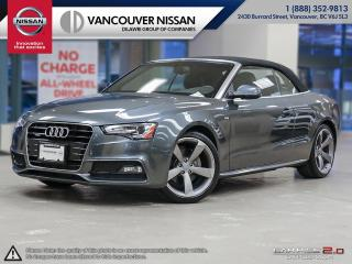 Used 2014 Audi A5 2.0 8sp Tiptronic Technik Cab Technik S-Line B&O Stereo Audi Side Assist Back Up Camera for sale in Surrey, BC
