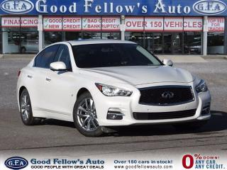Used 2014 Infiniti Q50 PREMIUM Pkg, LEATHER SEATS,SUNROOF, 6CYL 3.7 LITER for sale in North York, ON