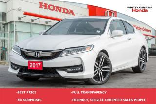 Used 2017 Honda Accord Touring V6 | Manual for sale in Whitby, ON