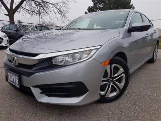 Used 2016 Honda Civic LX-Rear cam-htd seats-super clean for sale in Mississauga, ON