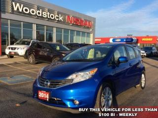 Used 2014 Nissan Versa Note SV  - Bluetooth -  Power Windows - $87.92 B/W for sale in Woodstock, ON
