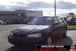 Used 1999 Toyota Corolla CE |AS-IS SUPER SAVER| for sale in Scarborough, ON