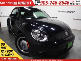 Used 2016 Volkswagen Beetle 1.8 TSI Classic|CONVERTIBLE| LEATHER| NAVI| for sale in Burlington, ON