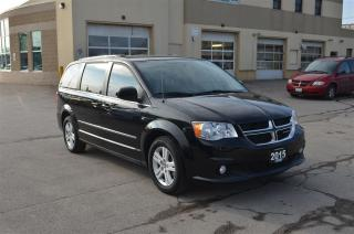 Used 2015 Dodge Grand Caravan Crew - Leather, CD, DVD, GPS,, Back Up Cam, Blueto for sale in London, ON