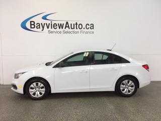 Used 2015 Chevrolet Cruze LS- 6 SPEED|ON STAR|PWR GROUP|LOW KM|BUDGET BUDDY! for sale in Belleville, ON