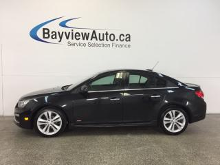 Used 2015 Chevrolet Cruze LT- TURBO|REM STRT|ROOF|HTD LTHR|REV CAM|CRUISE! for sale in Belleville, ON