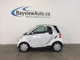 Used 2013 Smart fortwo TRIDION- AUTO|KEYLESS ENTRY|HTD STS|BLUETOOTH|A/C! for sale in Belleville, ON