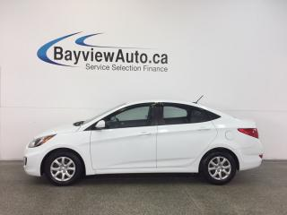 Used 2013 Hyundai Accent GLS- 1.6L AUTO ECO MODE HTD STS A/C CRUISE! for sale in Belleville, ON