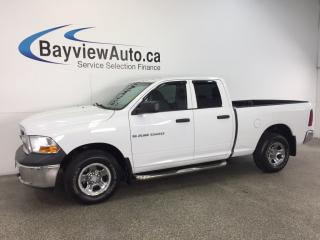 Used 2012 Dodge Ram 1500 ST- 4.7L|4x4|QUAD|CHROMES|TOW/HAUL|A/C|LOW KM! for sale in Belleville, ON