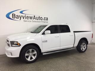 Used 2015 Dodge Ram 1500 SPORT- HEMI|REM STRT|ROOF|HTD LTHR|NAV|UCONNECT! for sale in Belleville, ON