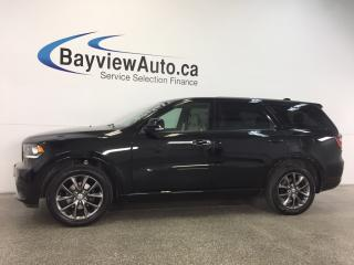 Used 2017 Dodge Durango GT- AWD|REM STRT|HTD LTHR|NAV|BSA|REV CAM|7 PASS! for sale in Belleville, ON