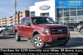 Used 2013 Ford F-150 FX4 SUPERCREW 5.5' BED 4WD - BLUETOOTH - MAX TRAILER TOW for sale in Ottawa, ON