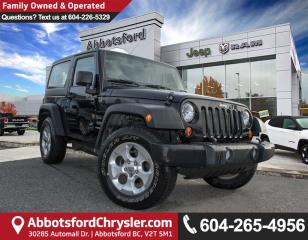 Used 2013 Jeep Wrangler Sport *LOW KM* for sale in Abbotsford, BC